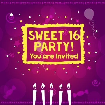 Sweet 16 Party Poster Design Colorful Feeling Love Png And Vector With Transparent Background For Free Download Christmas Party Poster Party Poster Sweet 16 Parties
