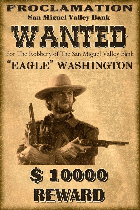 Western Wanted Postersclassic Western Wanted Poster By Mt On