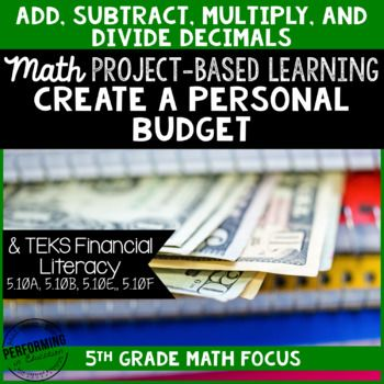 Project Based Learning: Create a Personal Budget 5th Grade