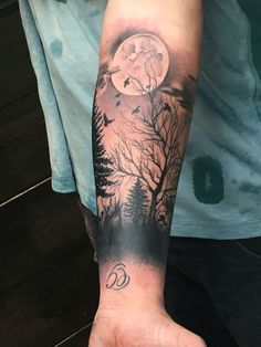 Dark Forest Tattoo A Free Hand Cover Up Tattoos Tatto