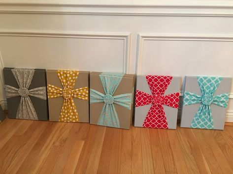 Easy Fabric Cross Wall Art Tutorial - A Little Moore
