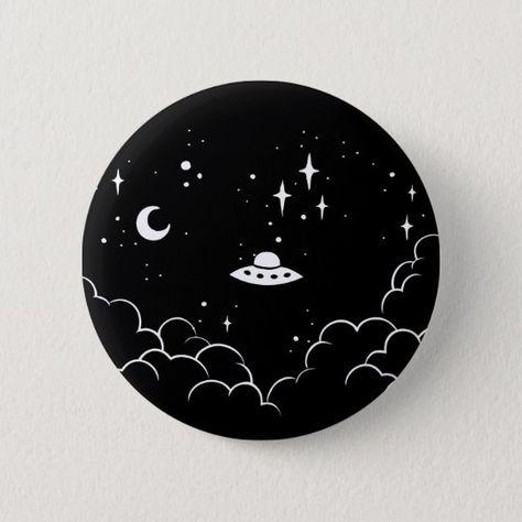 Shop Ufo Pinback Button created by Pijaczaj. Diy Art Painting, Vinyl Record Art, Hippie Painting, Vinyl Art Paint, Vinyl Art, Painting Art Projects, Canvas Art Painting, Diy Canvas Art, Aesthetic Art