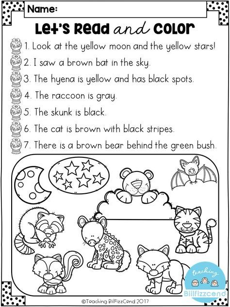 Free Reading Comprehension Activities Reading Comprehension Activities Comprehension Activities Reading Comprehension Kindergarten Read and color comprehension worksheets
