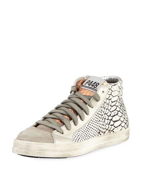 P448 Womens Skate Paillettes Italian Leather Sneaker