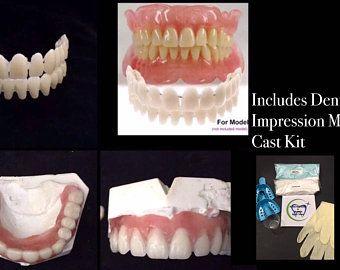 Missing Tooth Kit Front Flipper Denture Resin Denture Teeth Etsy In 2020 Dental Impressions False Teeth Denture