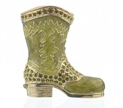 Ad Ebay Url Green Boot Trinket Box Hand Made By Keren Kopal With Austrian Crystals Faberge Green Boots Trinket Boxes Box Hand
