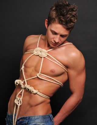 Bondage Gay Man Rope
