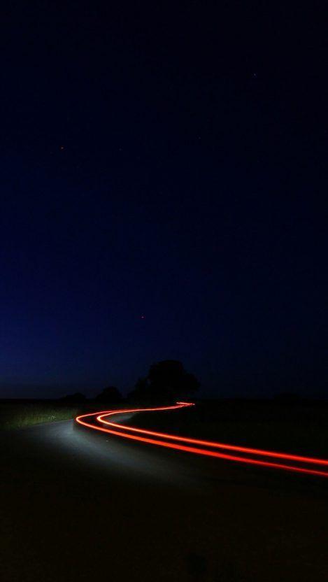 Night Road Vehicle Long Exposure Iphone Wallpaper