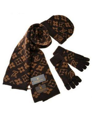Louis Vuitton Mens Womens Warm Cashmere Scarf And Hat Gloves Sets Ts 1519 Lv Handbag Louis Vuitton Men Gloves Set Mens Designer Belts