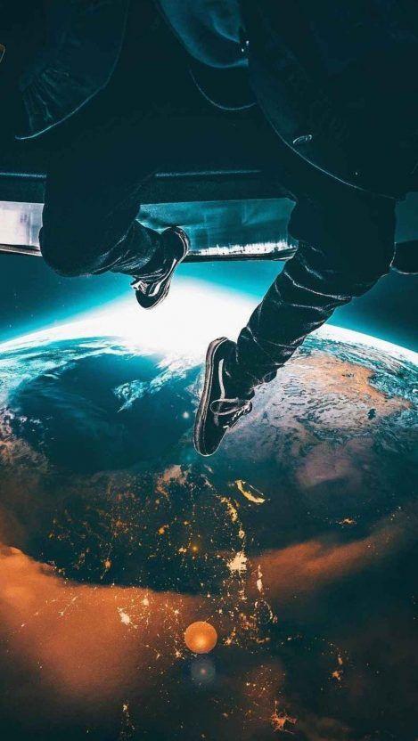 Above Earth Iphone Wallpaper Pemandangan Khayalan Pemandangan Fotografi Urban