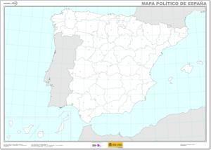 Mapa De Provincias Y Capitales De Espana Ign Con Imagenes
