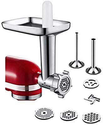 3pcs Sausage Stuffer Attachment Food Meat Grinder Kitchen Aid Stand Mixer