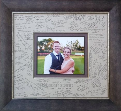 Custom Framed Wedding Signature Mat By Meg Glasgow Wedding Frames Large Framed Mirrors Custom Table Numbers