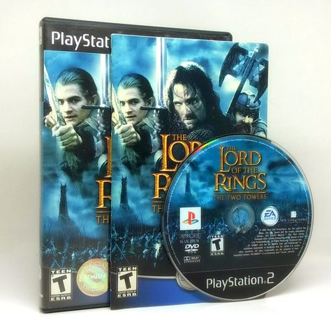 The Lord of the Rings: The Two Towers Sony PlayStation 2 game, comes complete in…