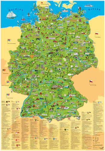 landkarte deutschland bestellen Landkarten von Deutschland für Kinder im Kinderpostershop
