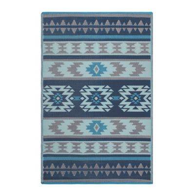 Fab Habitat Cusco 4 X 6 Indoor Outdoor Area Rug In Blue Fab Habitat Cusco 4 X 6 Indoor Outdoor Area Rug In Blue In 2020 Fab Habitat Blue Outdoor Rug Outdoor Rugs