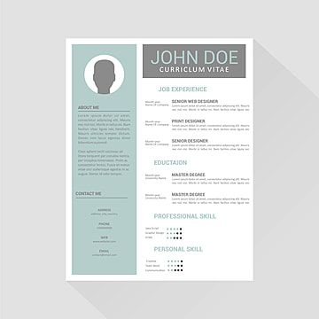 Professional Cv Resume Template Design For A Creative Person 3d Advertisement Application Png And Vector With Transparent Background For Free Download Resume Design Template Design Template Curriculum Vitae Template