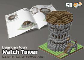 DWA - Watch Tower by spasquini | Minecraft ideas | Minecraft
