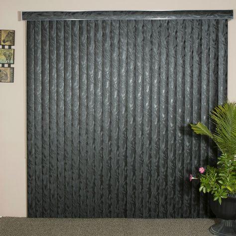 Black Textured Vinyl Vertical Blind 84 L X 36 To 98 W Cordless