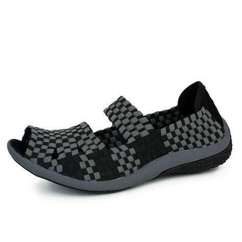 0d7821ab4d23 STQ 2018 Summer women flats sandals Shoes women woven flat shoes ladies  multi colors slip on sandals female brand loafers 812