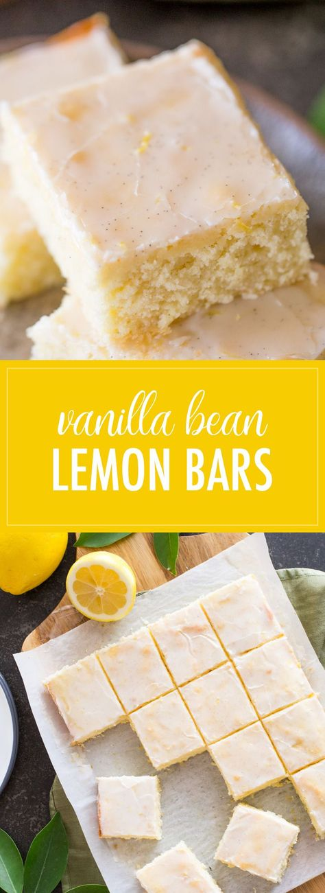 These easy Vanilla Bean Lemon Bars are a refreshing little snack, and I love that they come together so quickly with one bowl and a mixer. #lemonbars #vanillabean #lemon #dessert