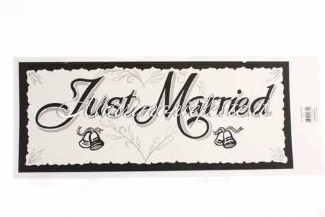 fb15c9aac375 Targa Just Married - Prodotti per Addobbi - MATRIMONIO - Accessori e gadget  per matrimoni e feste - Matrimoni e feste