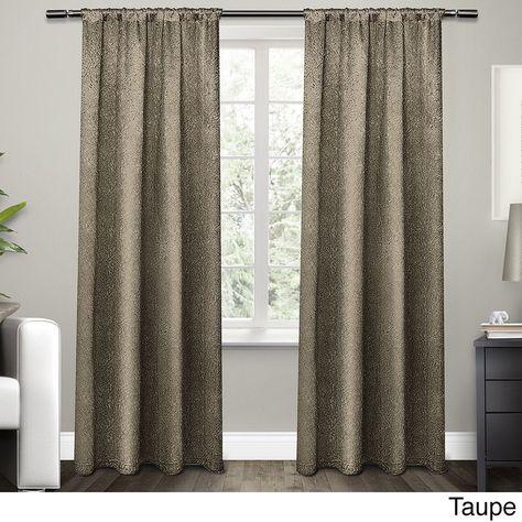 Ati Home Embossed Satin Curtain 84 96 Inch Length Panel Pair