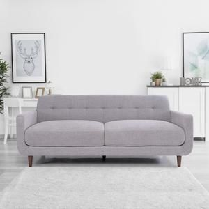Divine Fabric Sofa 3 Seater Grey In 2020 Fabric Sofa Sofa Seater