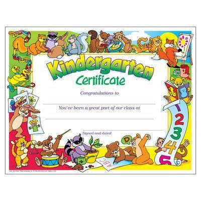 Kindergarten Certificate PK-K Certificates & Diplomas- Trend
