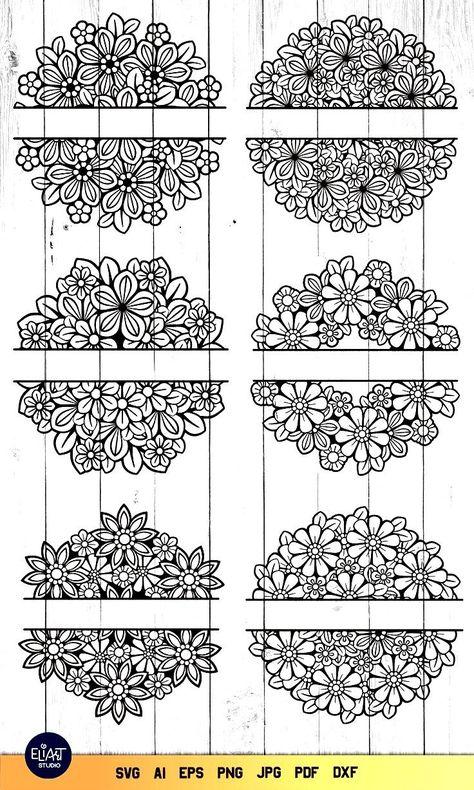 Split Mandala SVG   Floral Mandala SVG   Split Monogram SVG (1451401)   Illustrations   Design Bundl