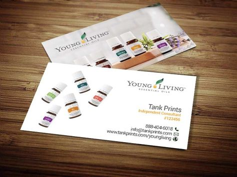 Young Living Essential Oil Business Card Template Download