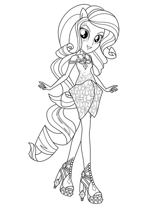 Equestria Girls Coloring Pages | My little pony coloring, Coloring ...