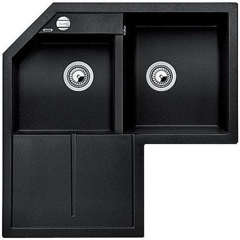 Blanco Metra 9 E Double Right Hand Bowl Corner Inset Kitchen Sink Anthracite Corner Sink Kitchen Corner Sink Kitchen Sink