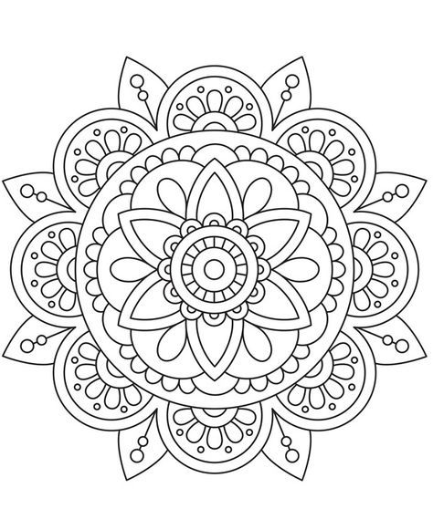 67 Ideas For Art Therapy Printables Design Mandala Coloring Pages Mandala Design Pattern Mandala Design Art