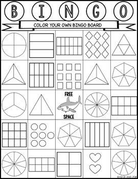 image relating to Fraction Bingo Printable identify Portion BINGO K-3 Math Things to do! Math portion online games