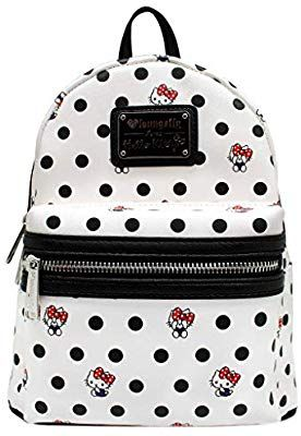 9e1f41d73 Amazon.com | Loungefly x Hello Kitty Polka Dot PU Mini Backpack (One Size,  Multi) | Kids' Backpacks