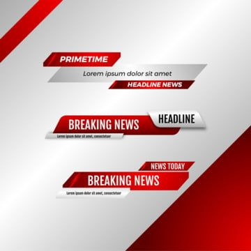 Lower Third News Bar Set Red Color Vector Television Bar Business Png And Vector With Transparent Background For Free Download Color Vector Lower Thirds Tv Set Design