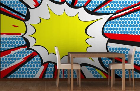 BANG Pop Art Wallpaper Wall Mural | MuralsWallpaper.co.uk | Wall Murals,  Bangs And Art Walls Part 12