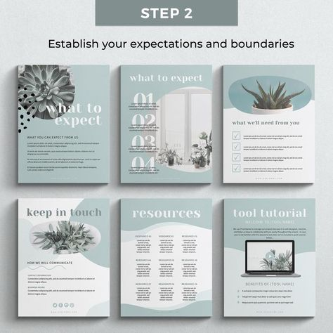 Client Welcome Kit Canva Templates Editable Client Welcome | Etsy