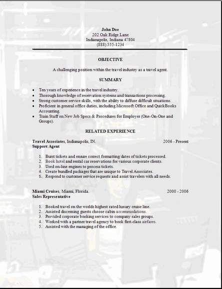 Travel Agent Resume3jjj Cover Letter For Resume Online Travel Agent Resume Examples