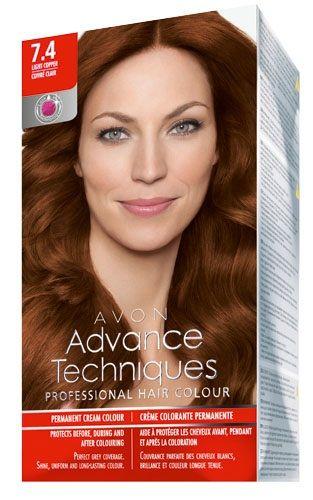 Avon Advance Techniques Sac Boyasi 7 4 Bakir Kizil Sac Boyasi Avon Sac
