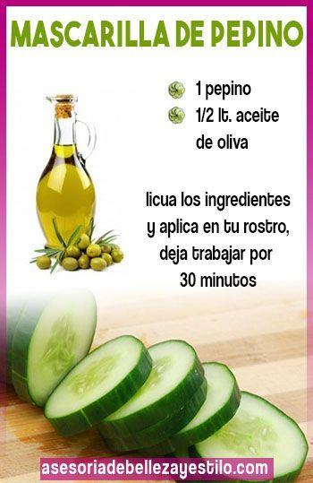 Maske Ideal Gurken Und Olivenöl Zu Befeuchten Und Nähren Die Haut Ein Schönes Gesicht Bekommen Skin Care Natural Beauty Skincare Face Care Tips
