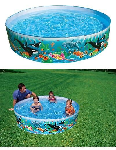 Inflatable And Kid Pools 116407 Intex Round 15 Deep Color Reef