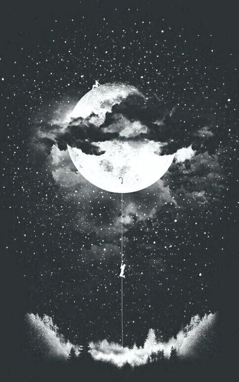 Iphone Wallpaper Tumblr 212 Moon Art Dark Wallpaper Black Aesthetic Wallpaper