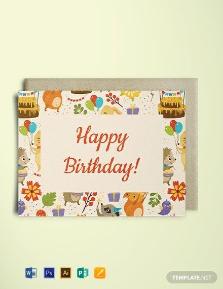 Birthday Greeting Card Template Free Jpg Illustrator Word Apple Pages Psd Publisher Template Net Greeting Card Template Birthday Greeting Cards Birthday Cards
