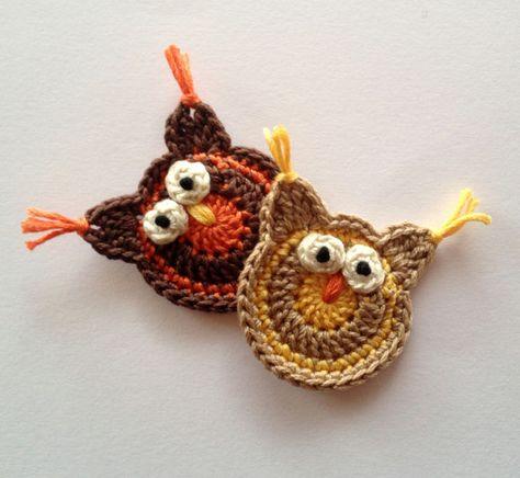 Owls in hats - amigurumi PDF ebook crochet pattern in English and ... | 436x474