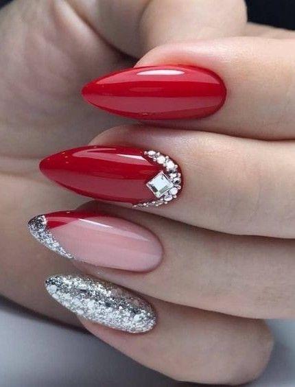 #rednails #holidaynails #holidays  #nailartist #nailart  #nailsofinstagram #naildesigns #coffinnails   #nailideas #stilettonails #acrylicnails #roundnails #coffinnails