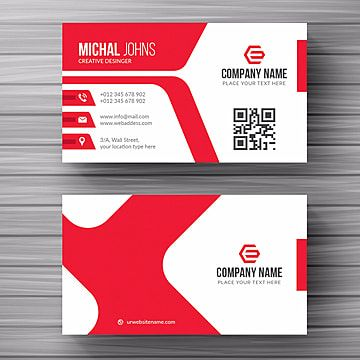 White Business Card With Red Details In 2021 Red Business Cards Cleaning Business Cards Minimal Business Card