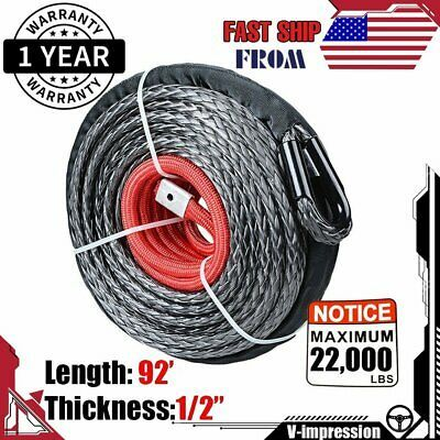 Sponsored Ebay 1 2 92 Synthetic Winch Line Rope Cable 22000 Lbs Heat Guard Atv Utv Truck Synthetic Winch Rope Winch Rope Winch