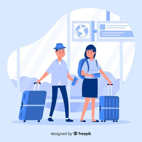 Download Flat Couple Traveling for free